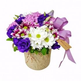 Çiçek Sepeti Kır Çiçeği Aranjman}